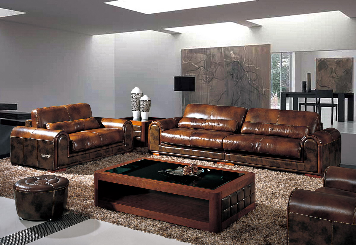 New 2013 Italian High End Leather Sofa Couch Set Loveseat