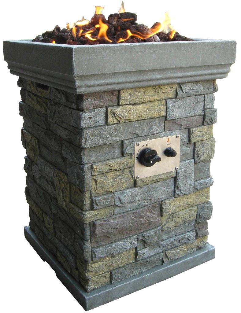 New modern outdoor backyard gas propane fire pit patio for Modern outdoor gas fire pit
