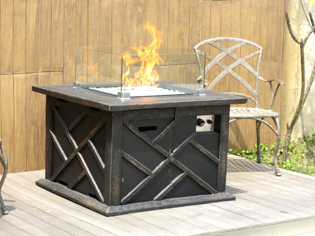 New 2014 outdoor modern fire pit gas propane backyard for Outdoor modern fire pit