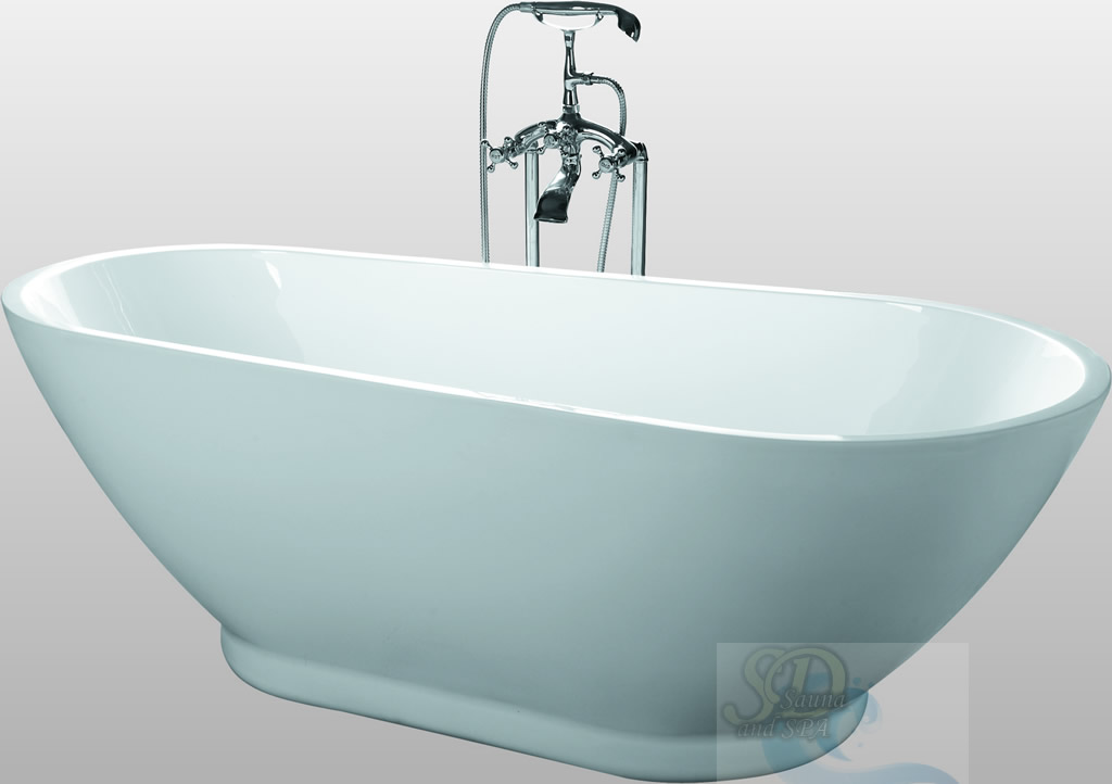 New modern pedestal bathtub soaking tub spa clawfoot for Modern claw foot tub