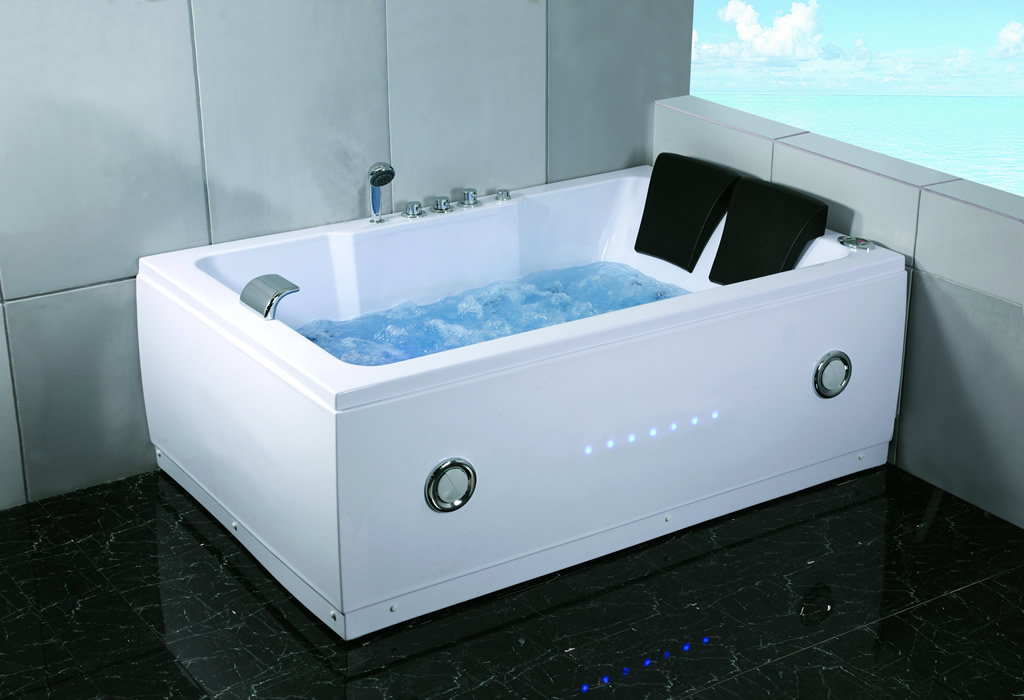 new 2 person indoor whirlpool jacuzzi hot tub spa hydrotherapy massage bathtub ebay. Black Bedroom Furniture Sets. Home Design Ideas
